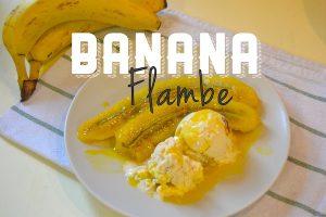menu item bananas flambe